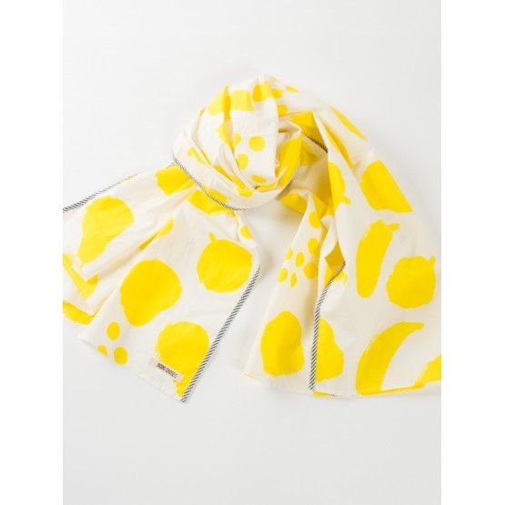 Foulard Big fruits Yellow