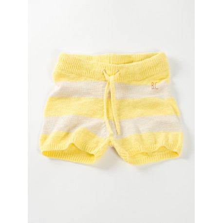 Kntited shorts Stripes Yellow