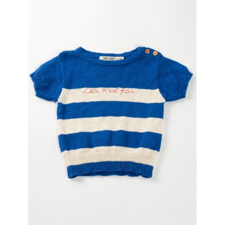 Knitted tee Ceci n'est pas