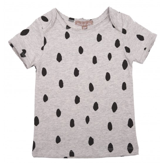 TEE SHIRT - GRIS CHINE ALL TACHE