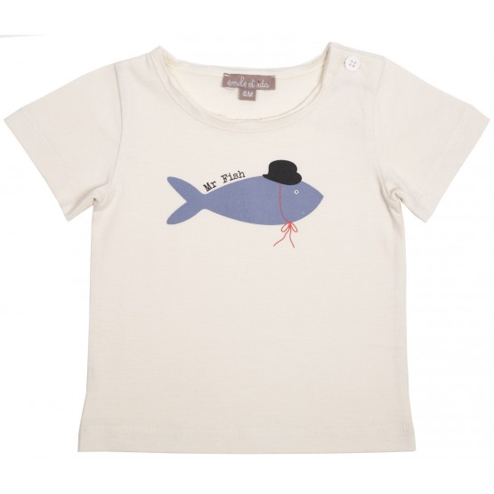 TEE SHIRT - MILK MR FISH