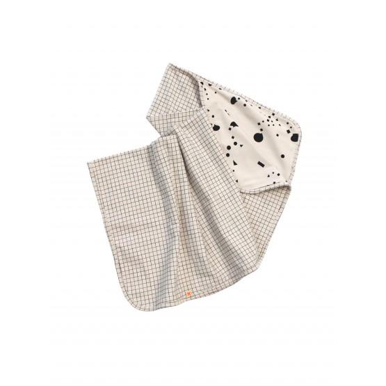 medium grid blanket - beige/black
