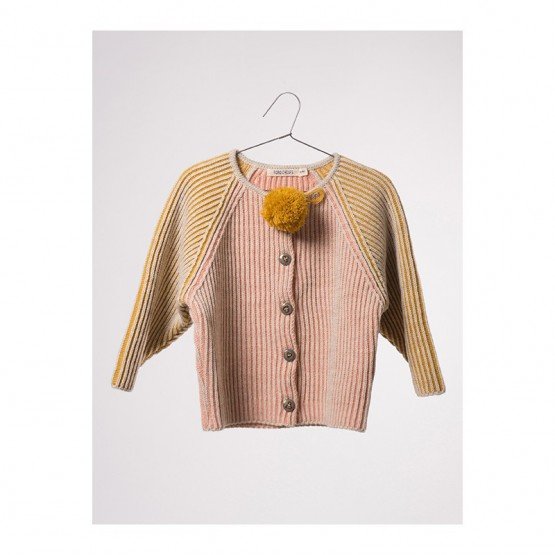 Bicolour Pink Cardigan - Bobo Choses