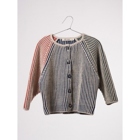 Bicolour Blue Cardigan - Bobo Choses