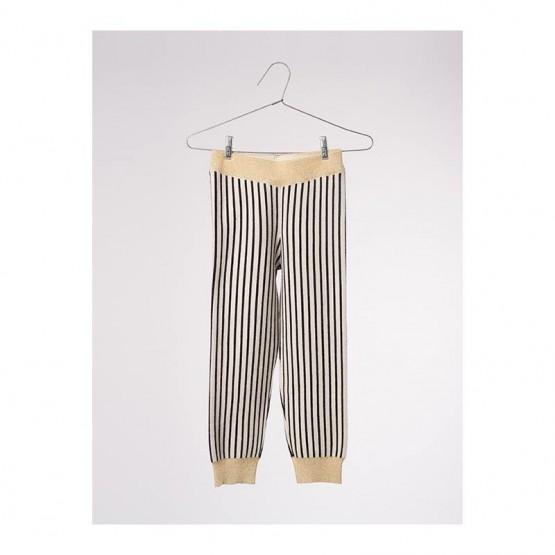 Stripes Black Legging - Bobo Choses