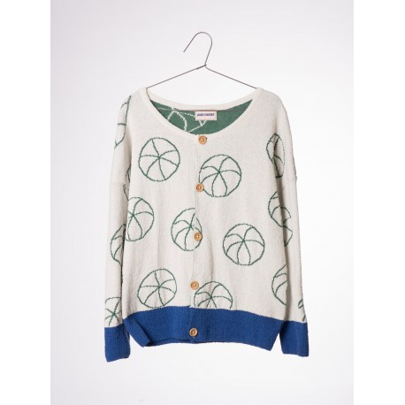 Knit Cardigan Basket Ball - Bobo Choses