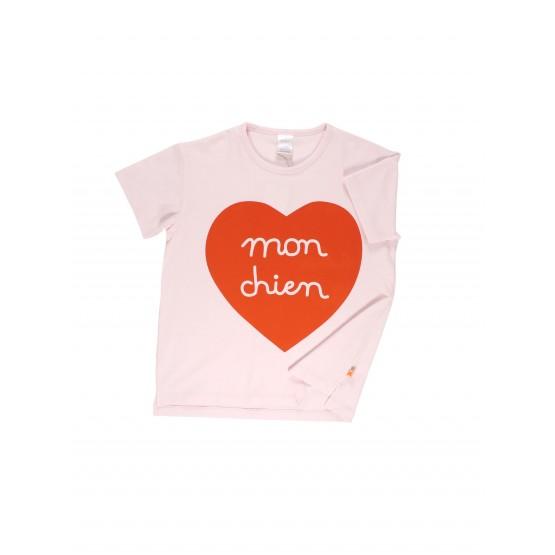Mon Chien Heart Teeshirt - Tinycottons