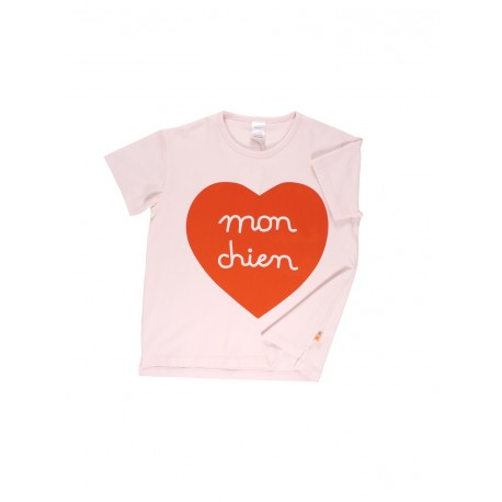 Tee-shirt Mon Chien Coeur - Tinycottons
