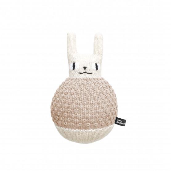 Plush Roly Poly Rabbit - Main Sauvage