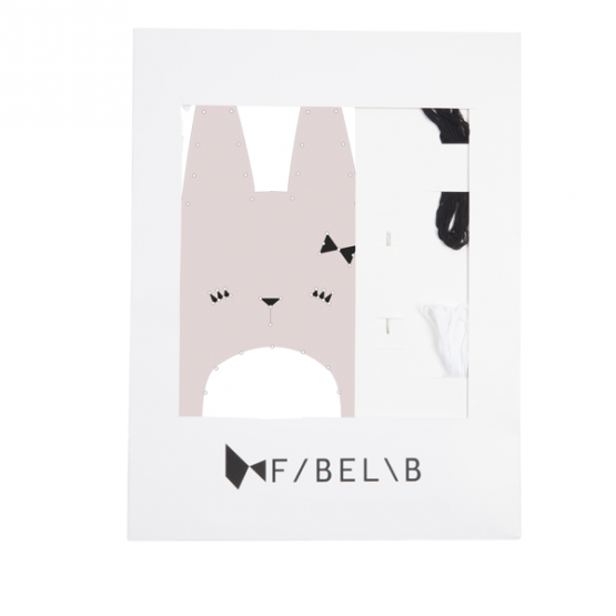 Animal Embroidery Kit Bunny - Fabelab