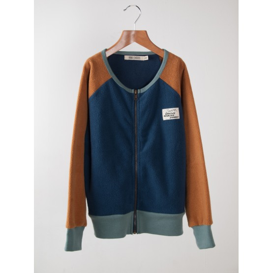 Sweatshirt zip Sherpa Blue - Bobo Choses