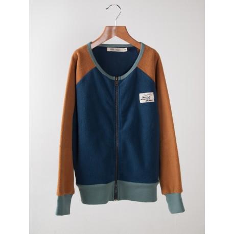 Sweatshirt zip Sherpa Blue - Bobo Choses