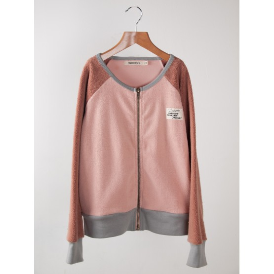 Sweat zippé poliare Rose - Bobo Choses